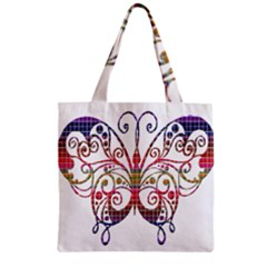 Butterfly Nature Abstract Beautiful Zipper Grocery Tote Bag