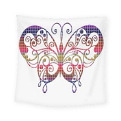 Butterfly Nature Abstract Beautiful Square Tapestry (small) by Nexatart