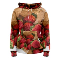 Strawberries Fruit Food Delicious Women s Pullover Hoodie