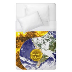 Design Yin Yang Balance Sun Earth Duvet Cover (single Size) by Nexatart