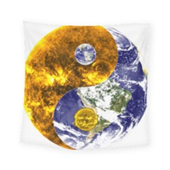Design Yin Yang Balance Sun Earth Square Tapestry (small)