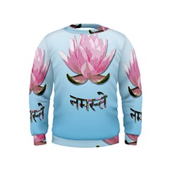 Namaste   Lotus Kids  Sweatshirt by Valentinaart