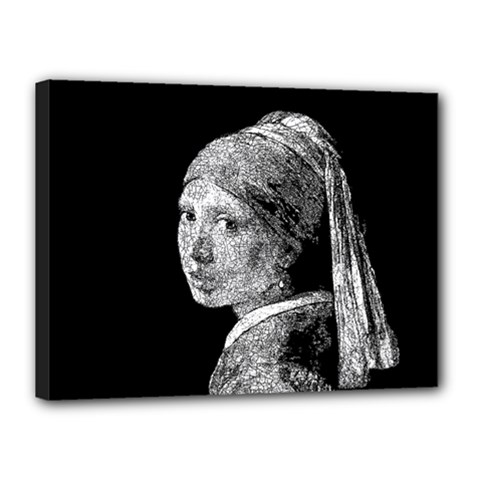 The Girl With The Pearl Earring Canvas 16  X 12