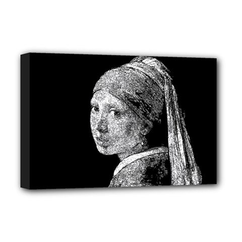 The Girl With The Pearl Earring Deluxe Canvas 18  X 12
