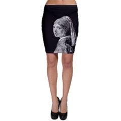 The Girl With The Pearl Earring Bodycon Skirt