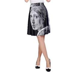 The Girl With The Pearl Earring A Line Skirt by Valentinaart