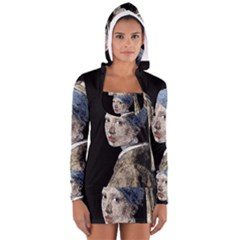 The Girl With The Pearl Earring Women s Long Sleeve Hooded T-shirt by Valentinaart