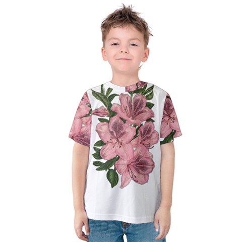 Orchid Kids  Cotton Tee by Valentinaart