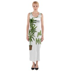 Plant Mom Fitted Maxi Dress by Valentinaart