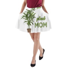 Plant Mom A Line Pocket Skirt by Valentinaart