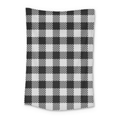 Plaid Pattern Small Tapestry