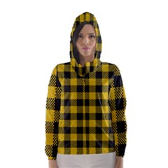 Plaid Pattern Hooded Wind Breaker (women) by ValentinaDesign