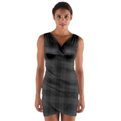 Plaid Pattern Wrap Front Bodycon Dress by ValentinaDesign