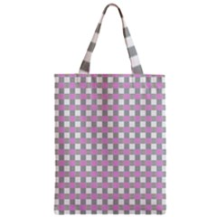 Plaid Pattern Zipper Classic Tote Bag by ValentinaDesign