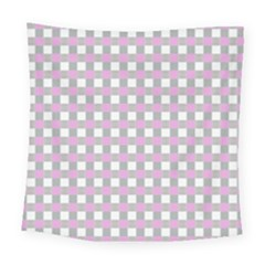 Plaid Pattern Square Tapestry (large) by ValentinaDesign