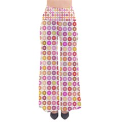 Multicolored Floral Pattern Pants by linceazul