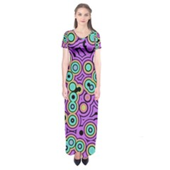 Bubble Fun 17e Short Sleeve Maxi Dress by MoreColorsinLife