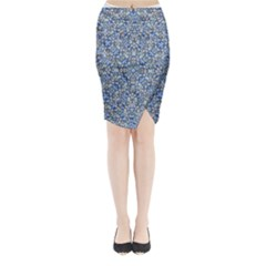 Geometric Luxury Ornate Midi Wrap Pencil Skirt