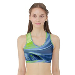 Colors Sports Bra With Border by ValentinaDesign