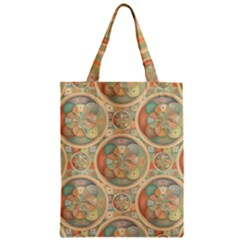 Complex Geometric Pattern Zipper Classic Tote Bag by linceazul