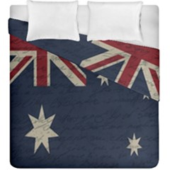 Vintage Australian Flag Duvet Cover Double Side (king Size) by ValentinaDesign