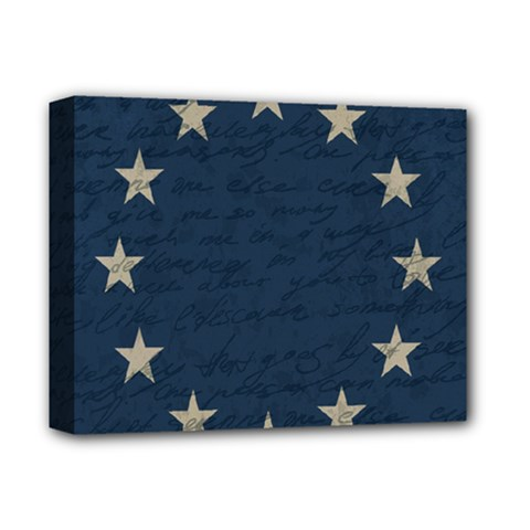Vintage Flag   Eu Deluxe Canvas 14  X 11  by ValentinaDesign