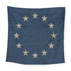Vintage Flag   Eu Square Tapestry (large) by ValentinaDesign