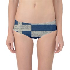 Vintage Flag   Greece Classic Bikini Bottoms by ValentinaDesign