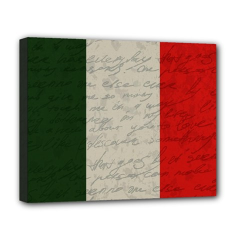 Vintage Flag   Italia Deluxe Canvas 20  X 16   by ValentinaDesign