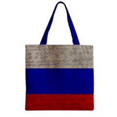 Vintage Flag - Russia Zipper Grocery Tote Bag by ValentinaDesign