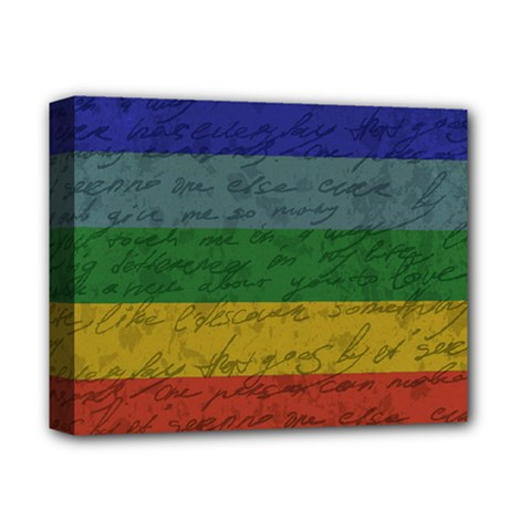 Vintage Flag - Pride Deluxe Canvas 14  X 11  by ValentinaDesign