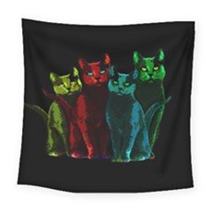 Cats Square Tapestry (large) by Valentinaart