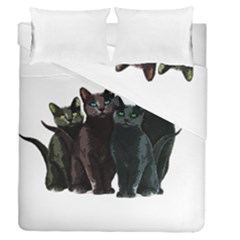 Cats Duvet Cover Double Side (queen Size) by Valentinaart