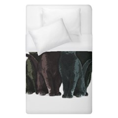 Cats Duvet Cover (single Size) by Valentinaart