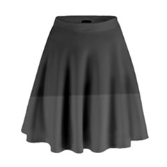 Gray And Black Thick Stripes High Waist Skirt by digitaldivadesigns