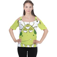 The Most Ugly Alien Ever Women s Cutout Shoulder Tee