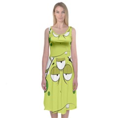 The Most Ugly Alien Ever Midi Sleeveless Dress by Catifornia