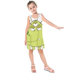 The Most Ugly Alien Ever Kids  Sleeveless Dress by Catifornia