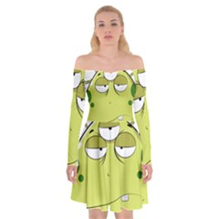 The Most Ugly Alien Ever Off Shoulder Skater Dress by Catifornia