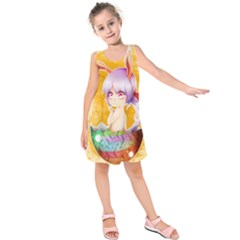 Easter Bunny Furry Kids  Sleeveless Dress by Catifornia
