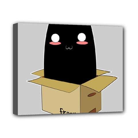 Black Cat In A Box Canvas 10  X 8  by Catifornia