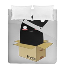 Black Cat In A Box Duvet Cover Double Side (full/ Double Size) by Catifornia