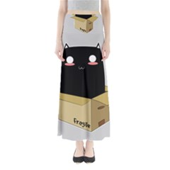 Black Cat In A Box Maxi Skirts by Catifornia