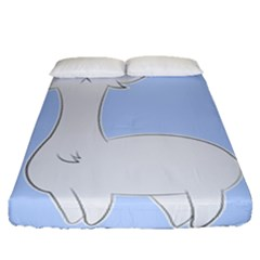 Grumpy Persian Cat Llama Fitted Sheet (queen Size) by Catifornia