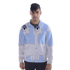 Grumpy Persian Cat Llama Wind Breaker (men) by Catifornia