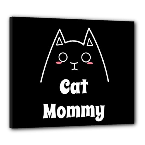 Love My Cat Mommy Canvas 24  X 20  by Catifornia