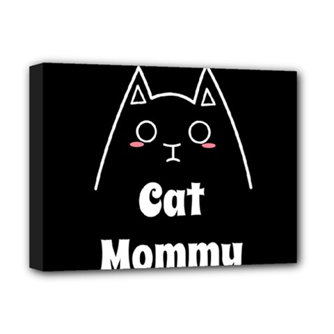 Love My Cat Mommy Deluxe Canvas 16  X 12   by Catifornia