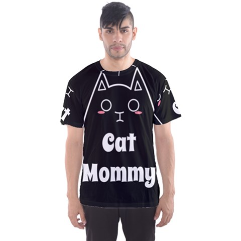 Love My Cat Mommy Men s Sport Mesh Tee by Catifornia