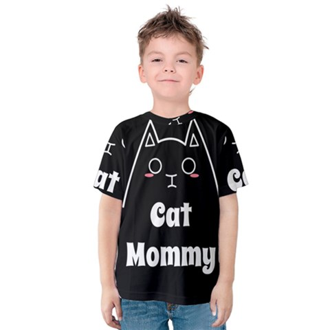 Love My Cat Mommy Kids  Cotton Tee by Catifornia