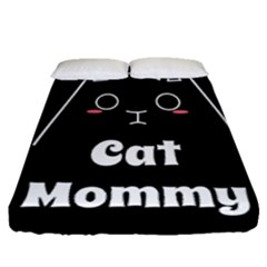 Love My Cat Mommy Fitted Sheet (queen Size) by Catifornia